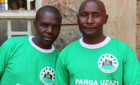 Male health workers from Tupange